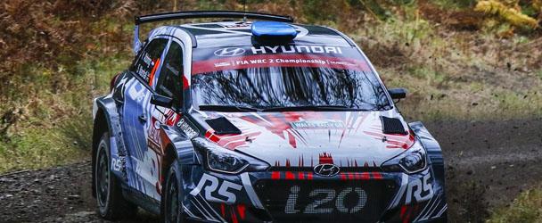 Huttunen in his Hyundai i20
