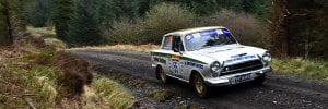 Bob Bean on the Pirelli International Rally
